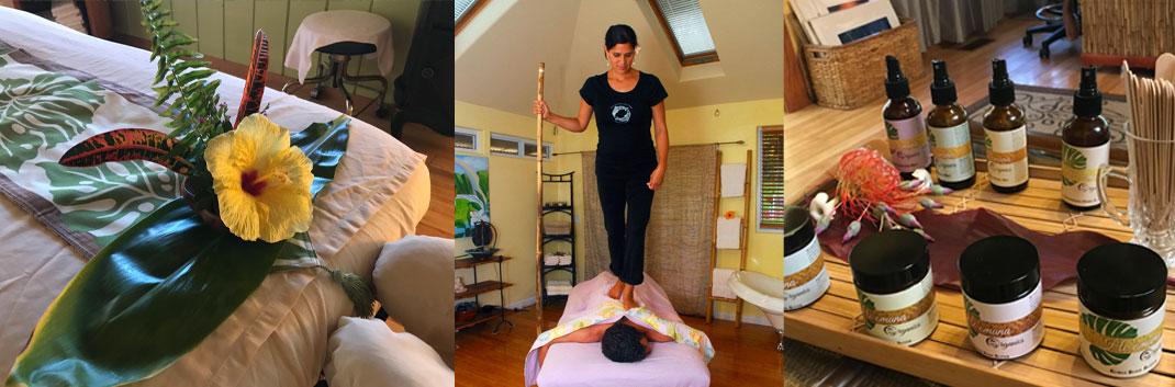 Dampfbad, Salzpeeling und Lomi-Massage